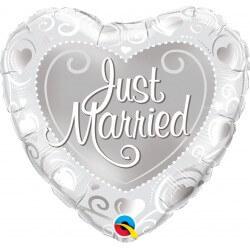 BALÃO CORAÇÃO JUST MARRIED