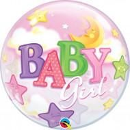 BALÃO BUBBLE BABY GIRL