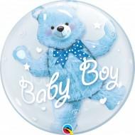 BALÃO BUBBLE BABY BOY URSINHO AZUL