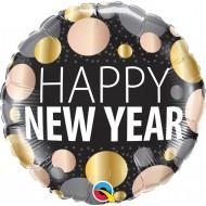 BALÃO REDONDO HAPPY NEW YEAR