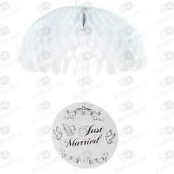 PARA-QUEDAS DE PAPEL JUST MARRIED