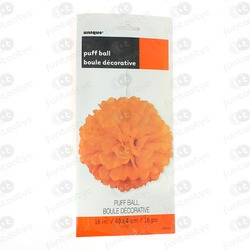PUFF DECORATIVO DE PAPEL LARANJA
