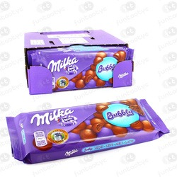 CHOCOLATE MILKA BUBBLY MILK