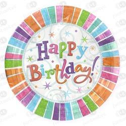 PRATOS DESCARTÁVEIS HAPPY BIRTHDAY