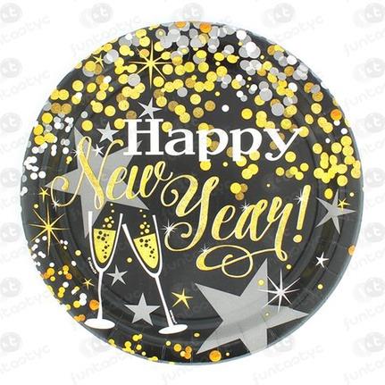PRATO DE CARTÃO HAPPY NEW YEAR