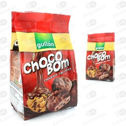 BOLACHAS GULLON CHOCOBOM COM LEITE