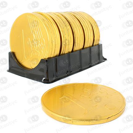 MOEDAS GIGANTES DE CHOCOLATE DE 1€