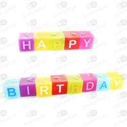 VELAS QUADRADAS HAPPY BIRTHDAY
