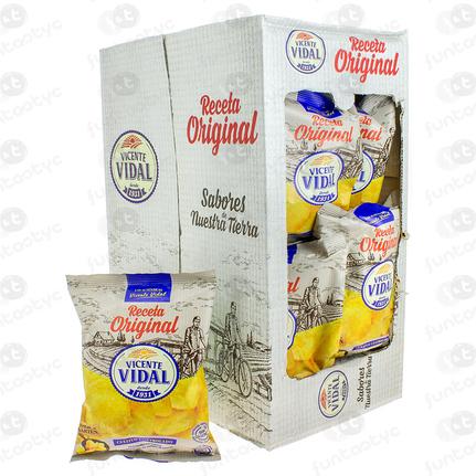 PATATAS VIDAL LISAS ORIGINAL 30GR 25 UDS