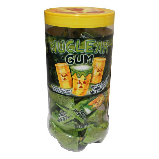 NUCLEAR GUM CHICLE CON ADHESIVO