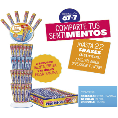 PACK ESPIGA MENTOS YOU 67+7
