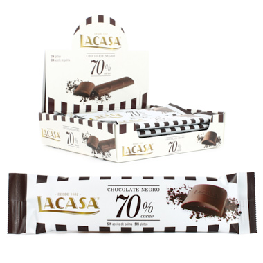 BARRITA CHOCOLATE 70% CACAU LACASA