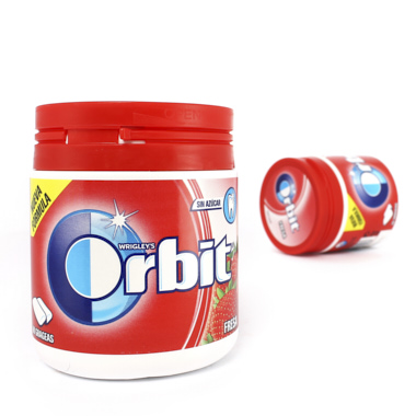 PASTILHAS ORBIT BOX MORANGO DRAGEIAS