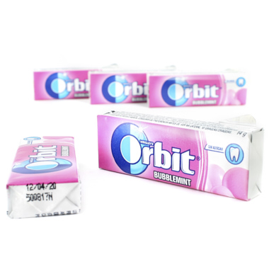 PASTILHAS ORBIT DRAGEIAS BUBBLEMINT