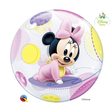 BALÃO BUBBLE MINNIE BEBE