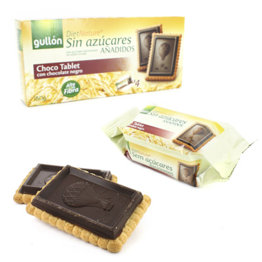 BOLACHAS CHOCO TABLET GULLON DIET NATURE